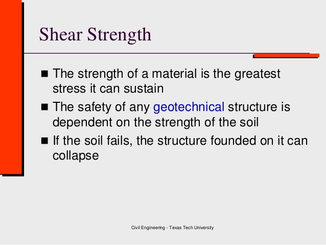 Class 6    Shear Strength - Direct Shear Test ( Geotechnical Engineering ) Slide 3
