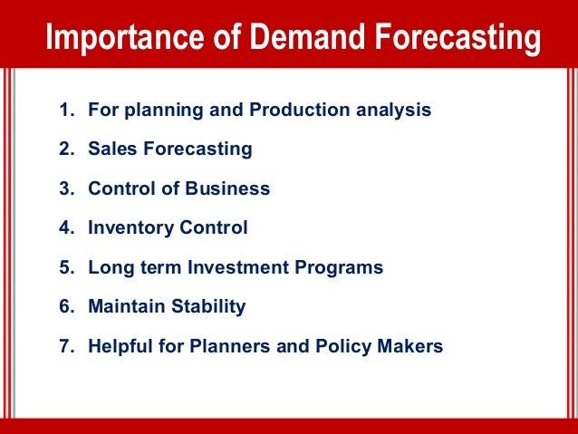 Class 6 definition of methods demand forecasting