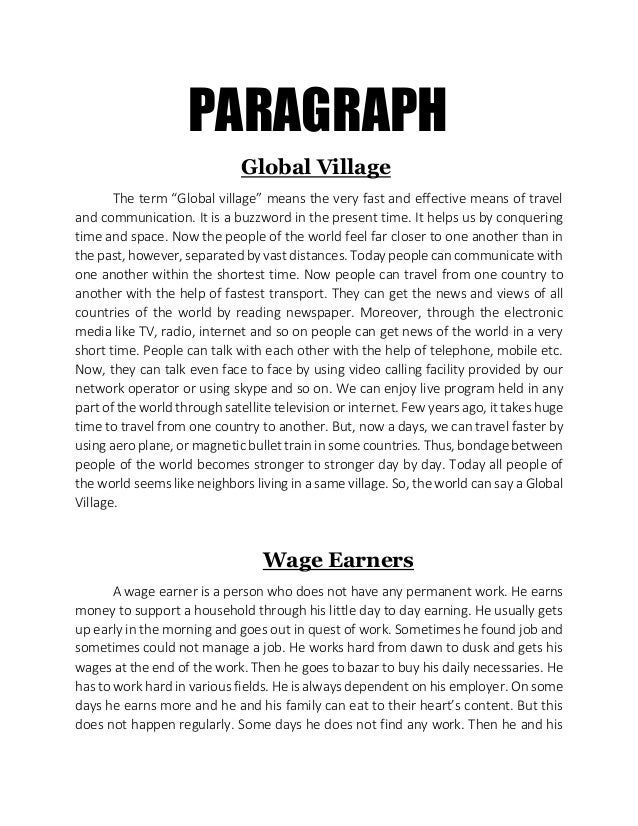 college paragraph