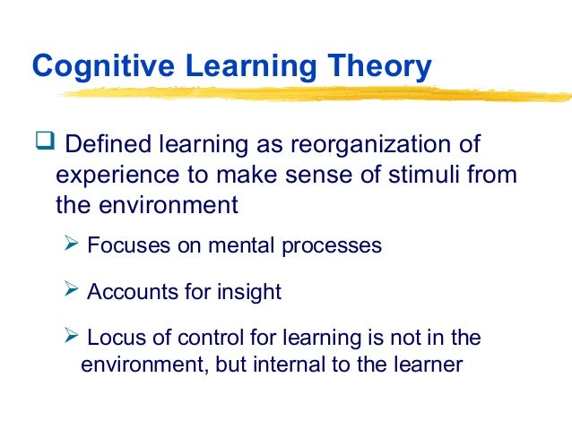 cognitive learning theory s impact on curriculu Piaget's theories have had a major impact on the theory and practice of education (case, 1998) first, the theories focused attention on the idea of developmentally appropriate education—an.