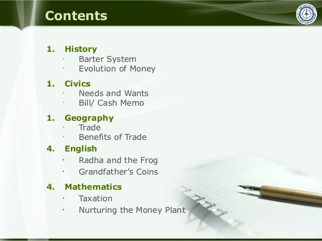 Class VI ppts based on Financial Education workbook Slide 2