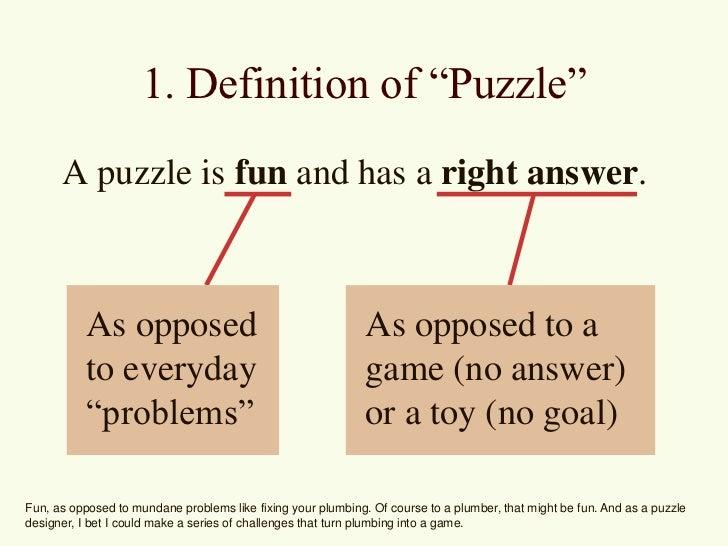 GAME 3400 Level Design - Puzzle Design Slide 3