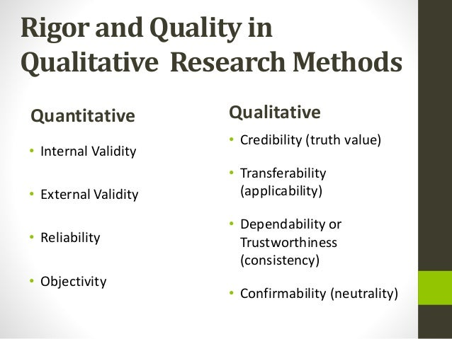 reliability and validity quantitative research From traditional validity testing in quantitative research study, scholars have initiated determination of validity in qualitative studies as well (golafshani 2003).