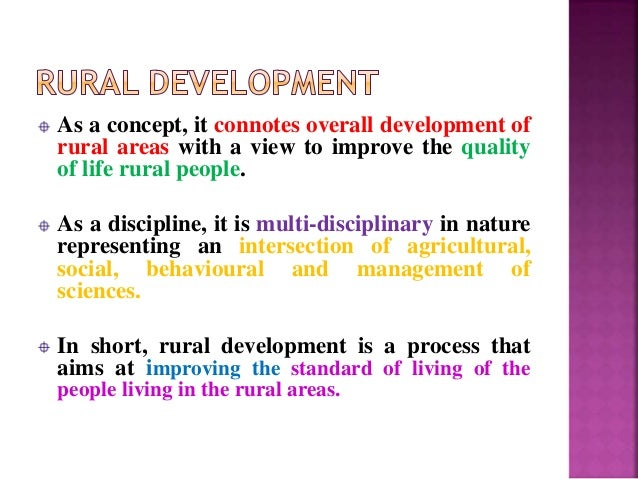 Rural Development Meaning, definition and concepts