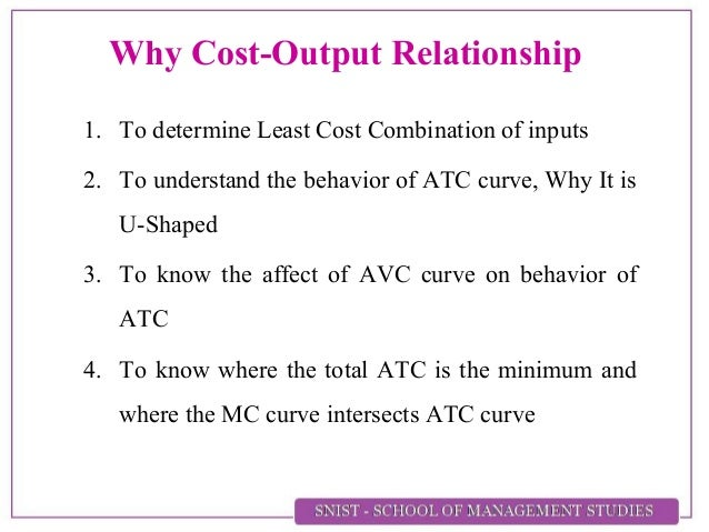 the least cost combination is concerned with which production relationship