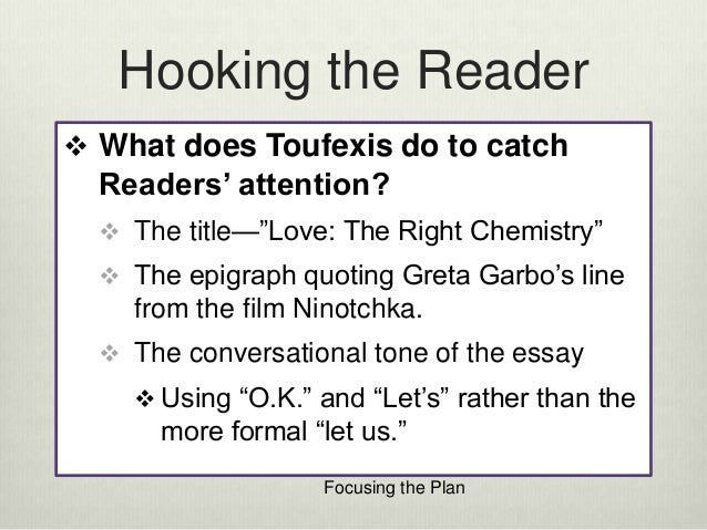 Love The Right Chemistry By Anastasia Toufexis Essay Topics