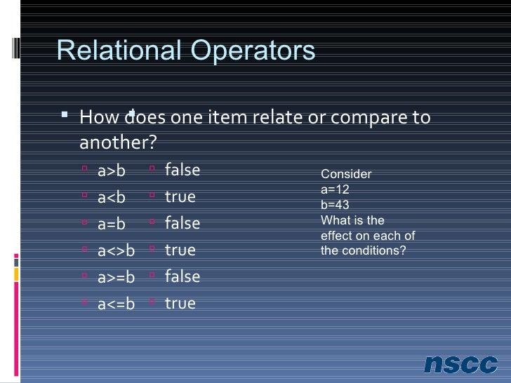 Logical Operators <ul><li>For complex conditions </li></ul><ul><ul><li>AND </li></ul></ul><ul><ul><li>OR </li></ul></ul><u...