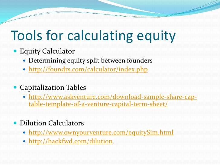 Class 9 introduction to web technology entrepreneurship for Venture capital term sheet template