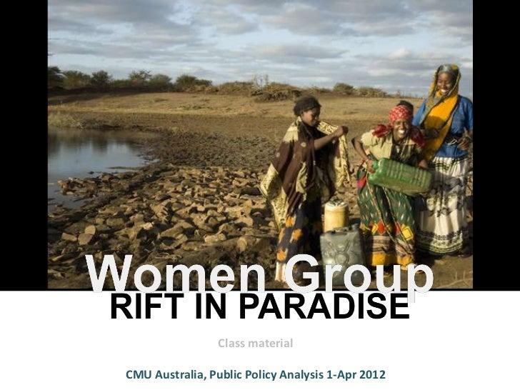 Class materialCMU Australia, Public Policy Analysis 1-Apr 2012