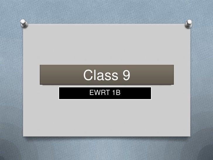 Class 9EWRT 1B