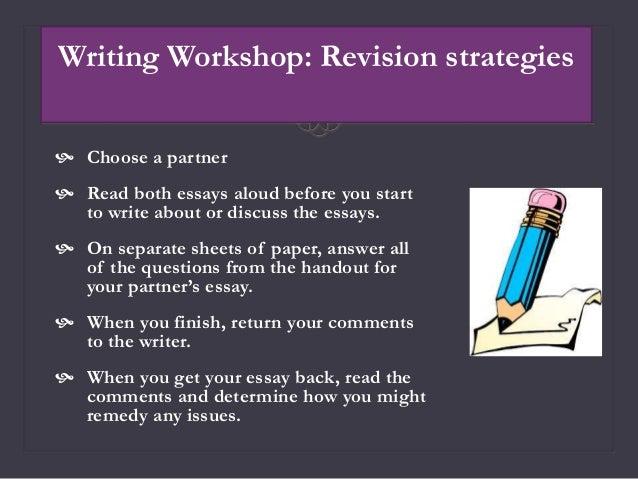 Essay workshop