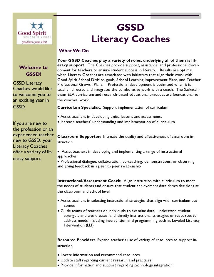 GSSD                                              Literacy Coaches                          What We Do                    ...