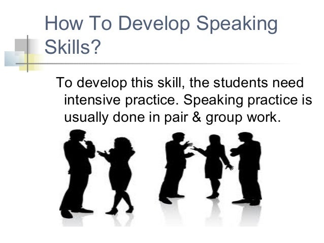 Class activities for developing speaking skills