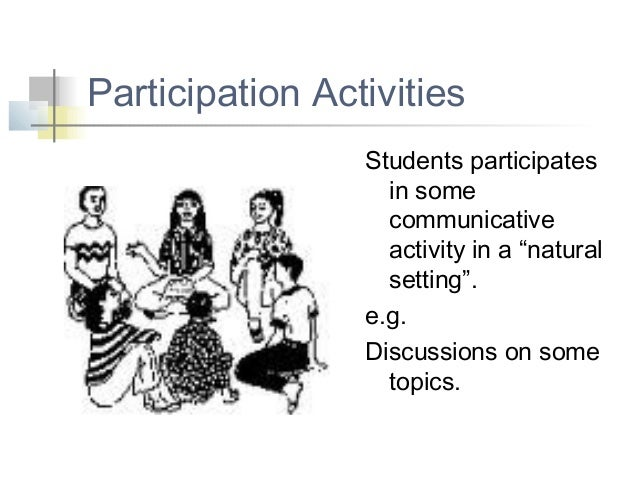 Class activities for developing speaking skills
