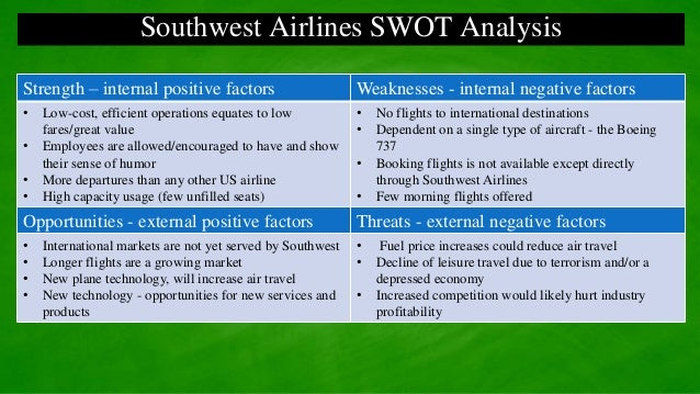 environmental analysis southwest airlines essay