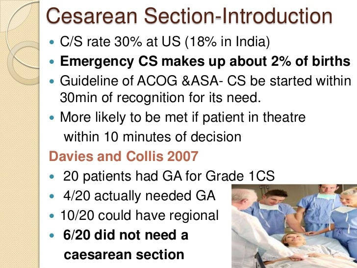 Class anaesthesia for emergency cs