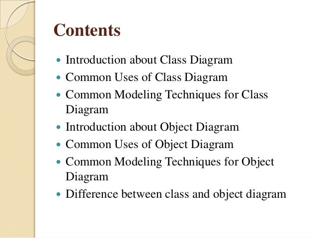 Class And Objectdiagram