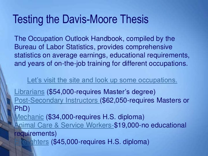 what is the davis and moore thesis
