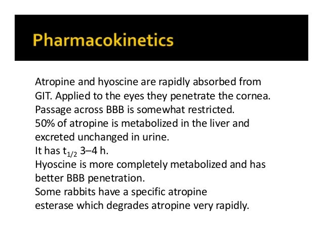 Class anticholinergic drugs