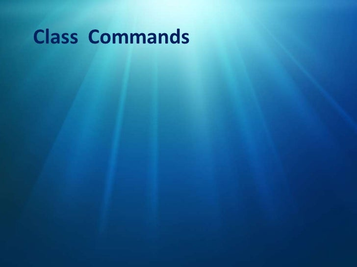 Class Comands<br />Class  Commands<br />How do you say...?<br />