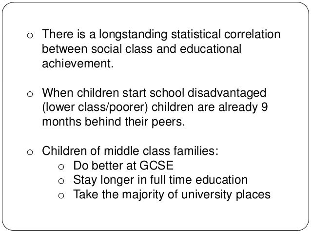 social class education comparison Social class affects education because the people who are in lower social statuses are not able to afford a premier education, the necessary tools to complement a.