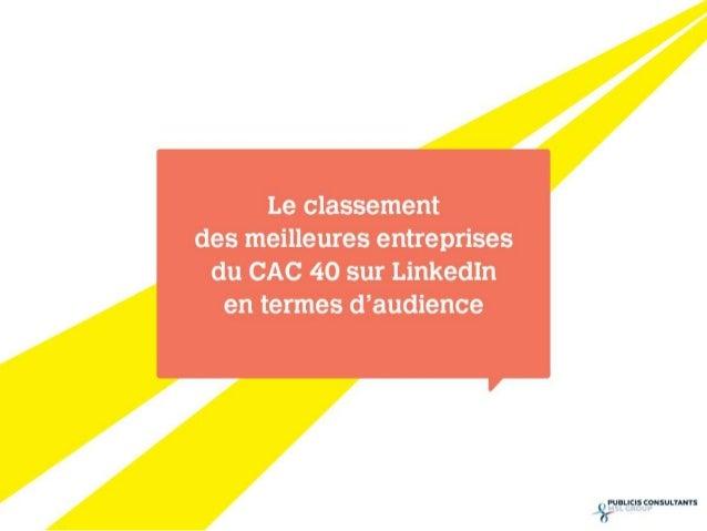 - Les trois entreprises du CAC40 qui totalisent le plus haut  volume d'interactions* sur leurs pages Entreprise LinkedIn  ...
