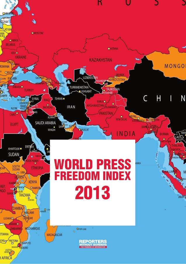 world pressfreedom index   2013