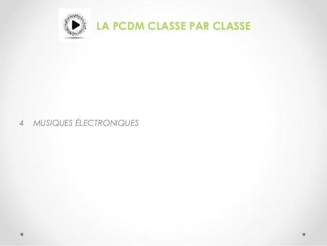 LA PCDM CLASSE PAR CLASSE 4 MUSIQUES ÉLECTRONIQUES
