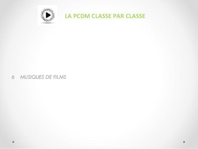 LA PCDM CLASSE PAR CLASSE 6 MUSIQUES DE FILMS