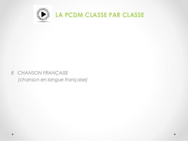 LA PCDM CLASSE PAR CLASSE 8 CHANSON FRANÇAISE (chanson en langue française)