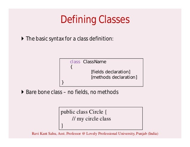 how to create a class in java