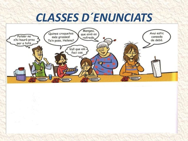 CLASSES D´ENUNCIATS