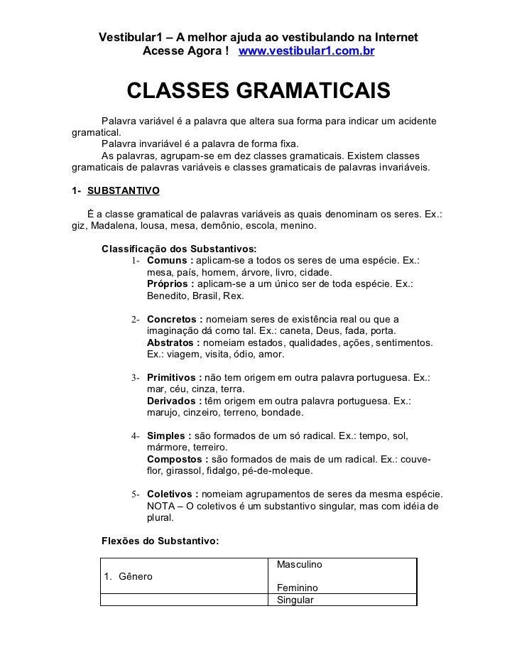 Vestibular1 – A melhor ajuda ao vestibulando na Internet            Acesse Agora ! www.vestibular1.com.br           CLASSE...