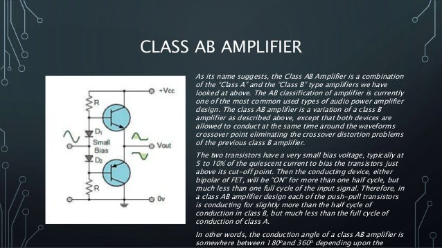 Classes of amplifiers