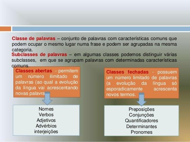 Classes palavras Slide 2