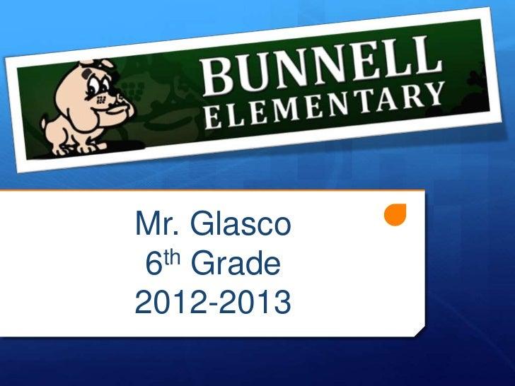 Mr. Glasco 6th Grade2012-2013