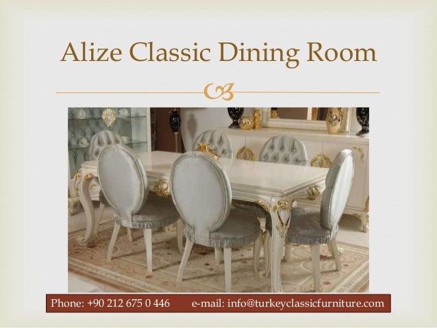 Classic Dining Room Furniture