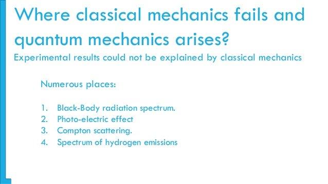 FAILURES OF CLASSICAL MECHANICS EBOOK