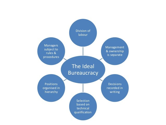 ideal bureaucracy