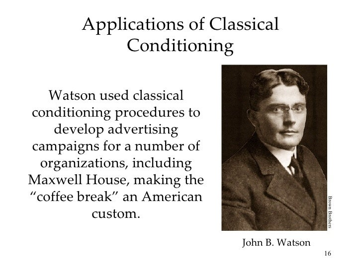 watson conventional conditioning