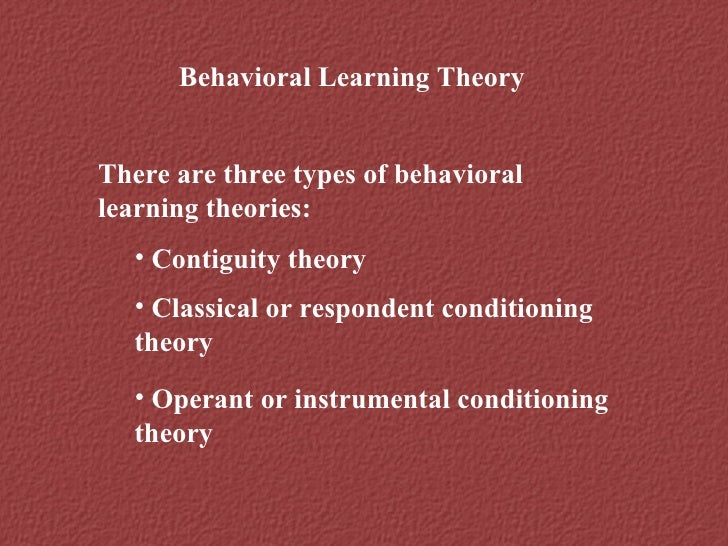 critics on classical conditioning theory The objective of this study was to apply classical conditioning principles in an   of business and psychology, and journal of marketing theory and practice  a  review and critique of the hierarchy of effects in advertising.