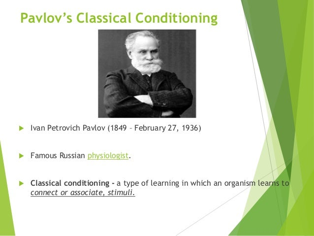 Classical conditioning Slide 2