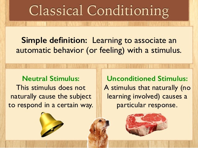 examples of classical conditioning on humans