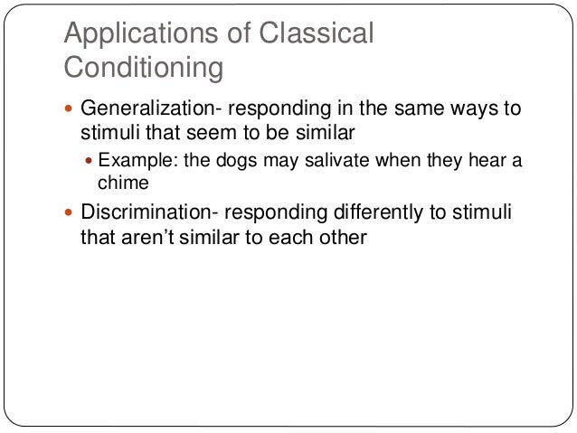 classical conditioning examples in the classroom