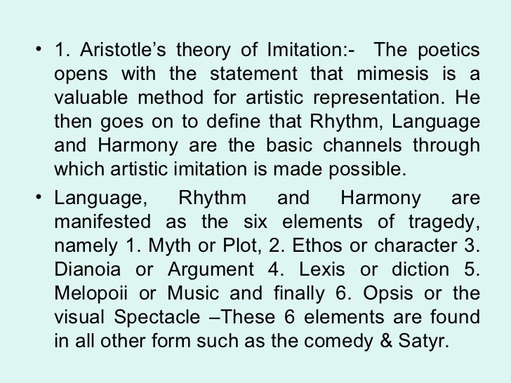 aristotle concept of imitation
