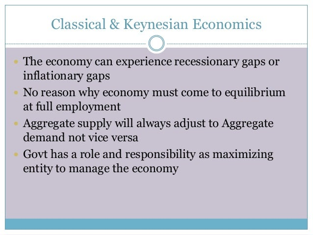 keynesian economics and classical economics John maynard keynes's most influential work, the general theory of  the book  constituted a vast assault on the classical economics tradition in which he had.