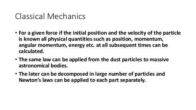 Classical mechanics vs quantum mechanics