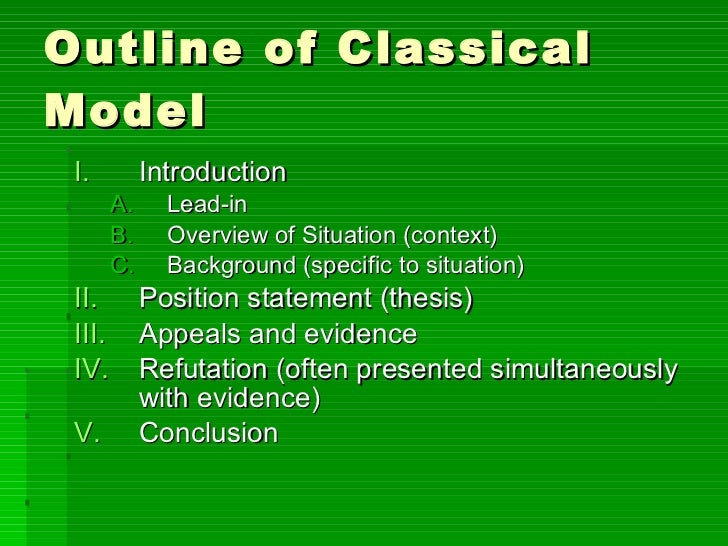 classical argument outline