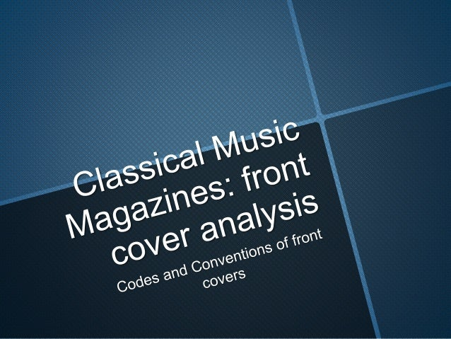 An analysis of classical music