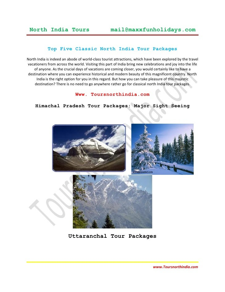 North India Tours                                  mail@maxxfunholidays.com             Top Five Classic North India Tour ...